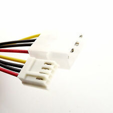 Molex 4-Pin Male to Floppy Drive 4 Pin Power Extension Connector Adapter Cable