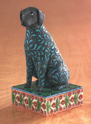 "Jim Shore /""Licorice/"" Black Lab Dog Figure"