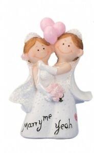 Tortenaufsatz Brautpaar Hochzeit Hochzeitspaar Ehepaar Figur Lesbisch Tortendeko Hochzeitstisch