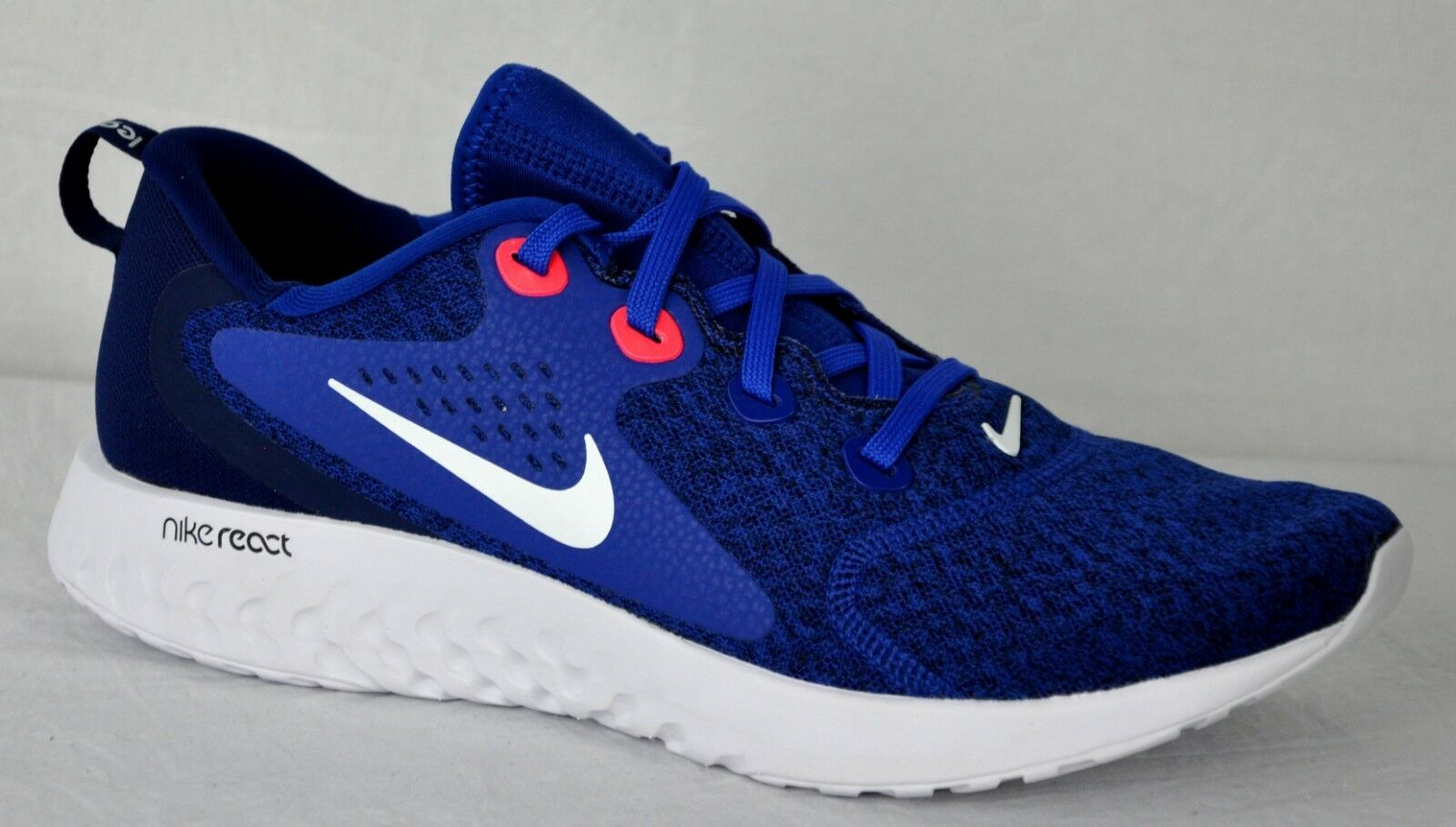 Nike Mens Legend React Running shoes AA1625 405 Indigo Force bluee Vd Red Sz 12