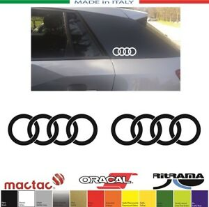 2-ADESIVI-AUDI-Q2-ANELLI-RING-mm-80x28-STICKERS-DECAL-AUFKLEBER-PEGATINA-ADHESIF