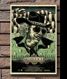 ZA901 Movie Beetlejuice Tim Burton Hot Poster Hot 40x27 36x24 18inch