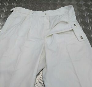 Genuine British Royal Navy Issue Officers White Uniform Trouser No1 AW EBYT309