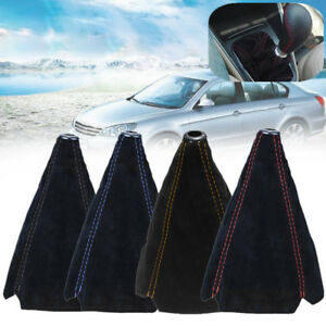 1-x-Suede-Leather-Universal-Car-Manual-Gear-Stick-Shift-Knob-Cover-Boot-Gaiter