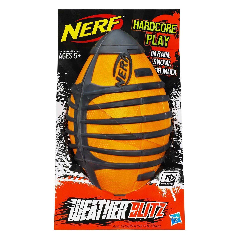 Brand New NERF Sports WEATHER BLITZ BLITZ BLITZ FOOTBALL All Conditions Ball orange ebf66e