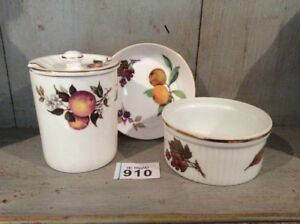 Royal-Worcester-Fine-Bone-China-Dishes-Arden-amp-Evesham-amp-Blue-Waters-Jam-Pot