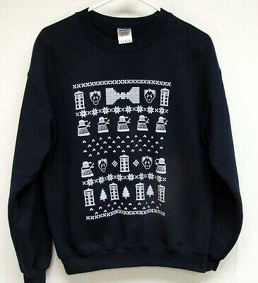 Doctor Who Daleks & Cybermen Red Sweatshirt Ugly Sweater