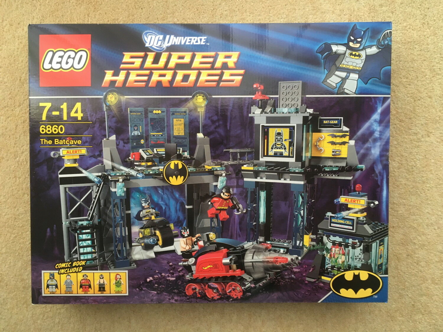 Lego DC Universe 6860 -The Batcave NEW in factory sealed box - 2012