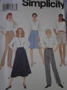 9589-UNCUT-Simplicity-Pattern-Misses-Pants-Skirt-9589-OOP
