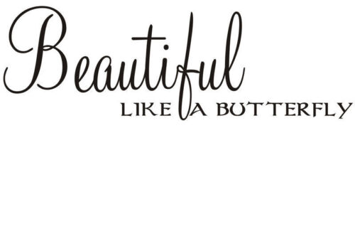 Beautiful like a butterfly sticker wall art quote bedroom decor vinyl decal