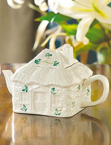 & Belleek Tableware Shamrock Irish Cottage Tea Pot \u0026 Lid | eBay