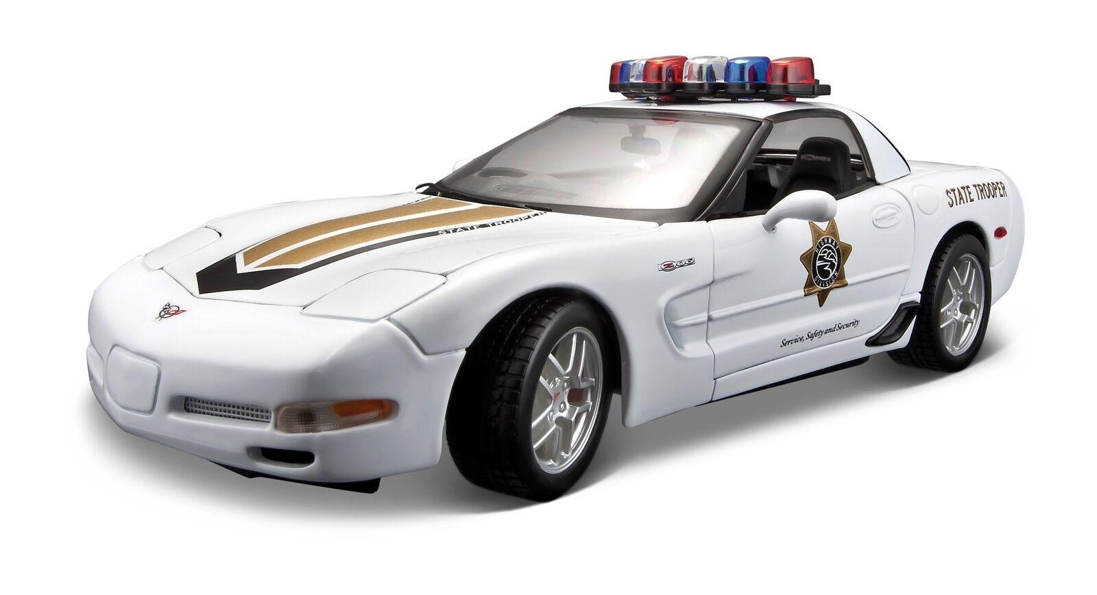 Corvette z06 maisto 531383  polizei - modell - auto