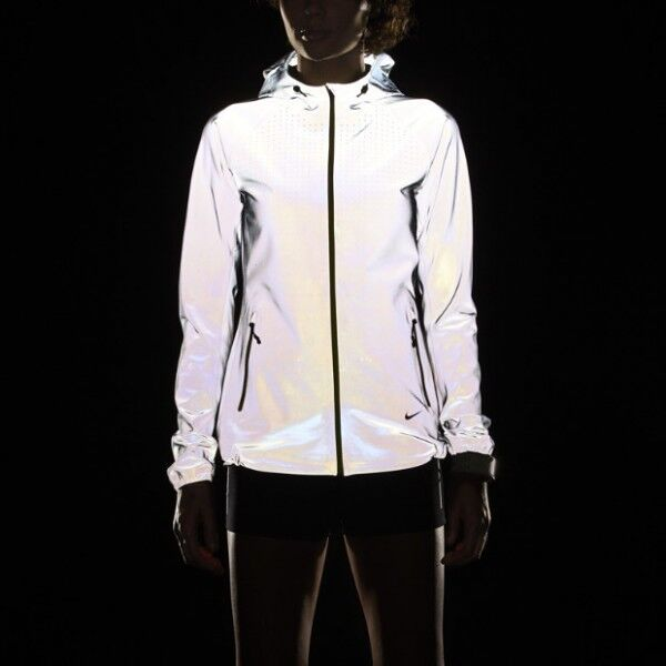 NIKE WOMENS ALLOVER FLASH REFLECTIVE 3M HOODIE