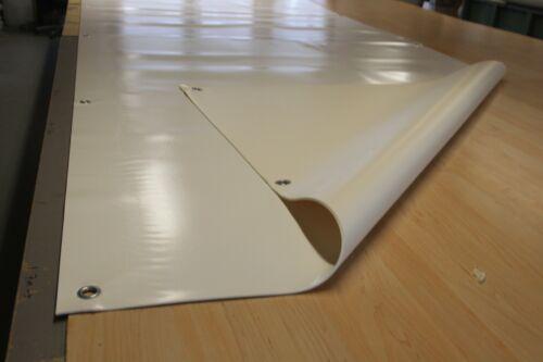 6,50€//m² Schaumbeschichtet 3mm Dick weiß m.ÖSEN Lkw Plane Abdeckplane 1350g//m2