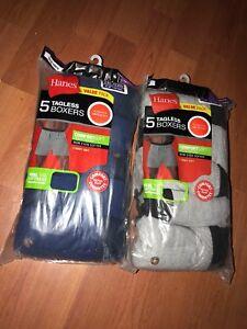 e1fe003cabdc Hanes Tag less Boxer 10 Pack Mens Assorted Colors & Bands M L XL ...