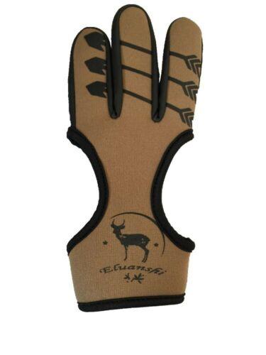 Glove For Archery Slingshot Crossbow Shot 3 Finger Protection Hand Guard Cover