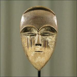 59823) Afrikanische Holz Passport Maske Tsogo Gabun Afrika KUNST
