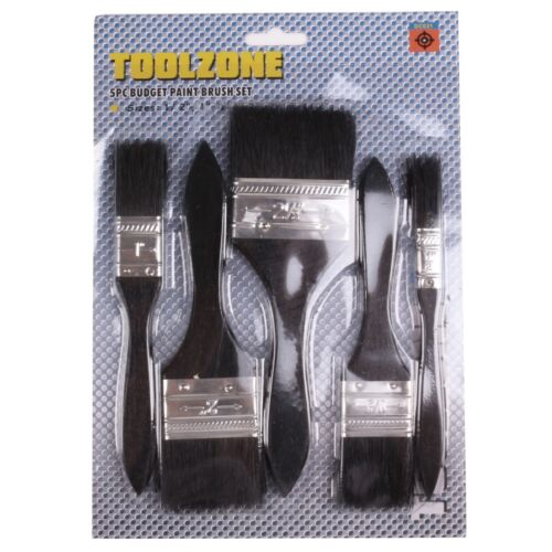 5x PAINTBRUSHES Decorator//Painter Brush Tool Small//Large Outdoor Garden//Fence