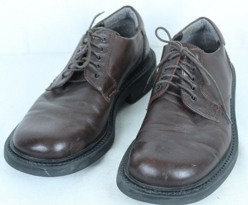 Kenneth Cole Reaction Brown Lace Up Leather Oxfords Dress Shoes Size 8 Italy