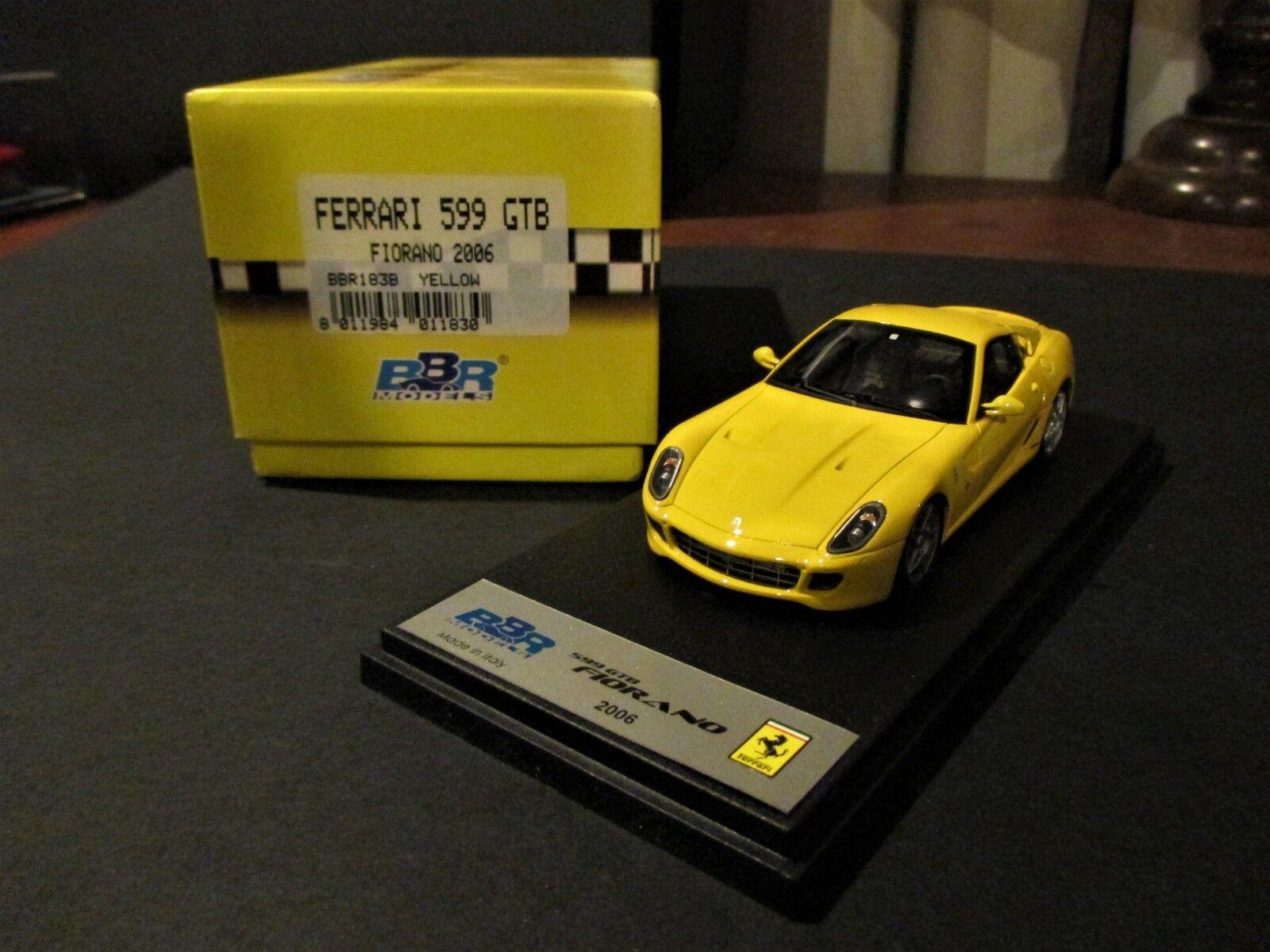 RARE FERRARI 599 GTB FIORANO 2006 BBR 1/43 giallo BBR183B
