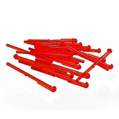 20 NEW LEGO Bar 1 x 8 Round End Spring Shooter Dart tr orange