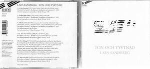 Lars Sandberg Ton Och Tystnad CD Album - London, London, United Kingdom - Lars Sandberg Ton Och Tystnad CD Album - London, London, United Kingdom