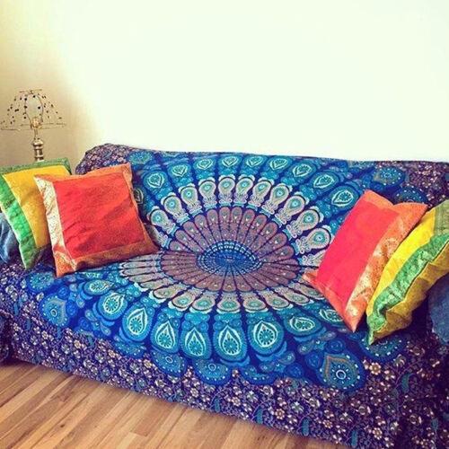 Home Decor Mandala Tapestry Bohemian Wall Hanging Hippie Throw Blanket Mat Towel