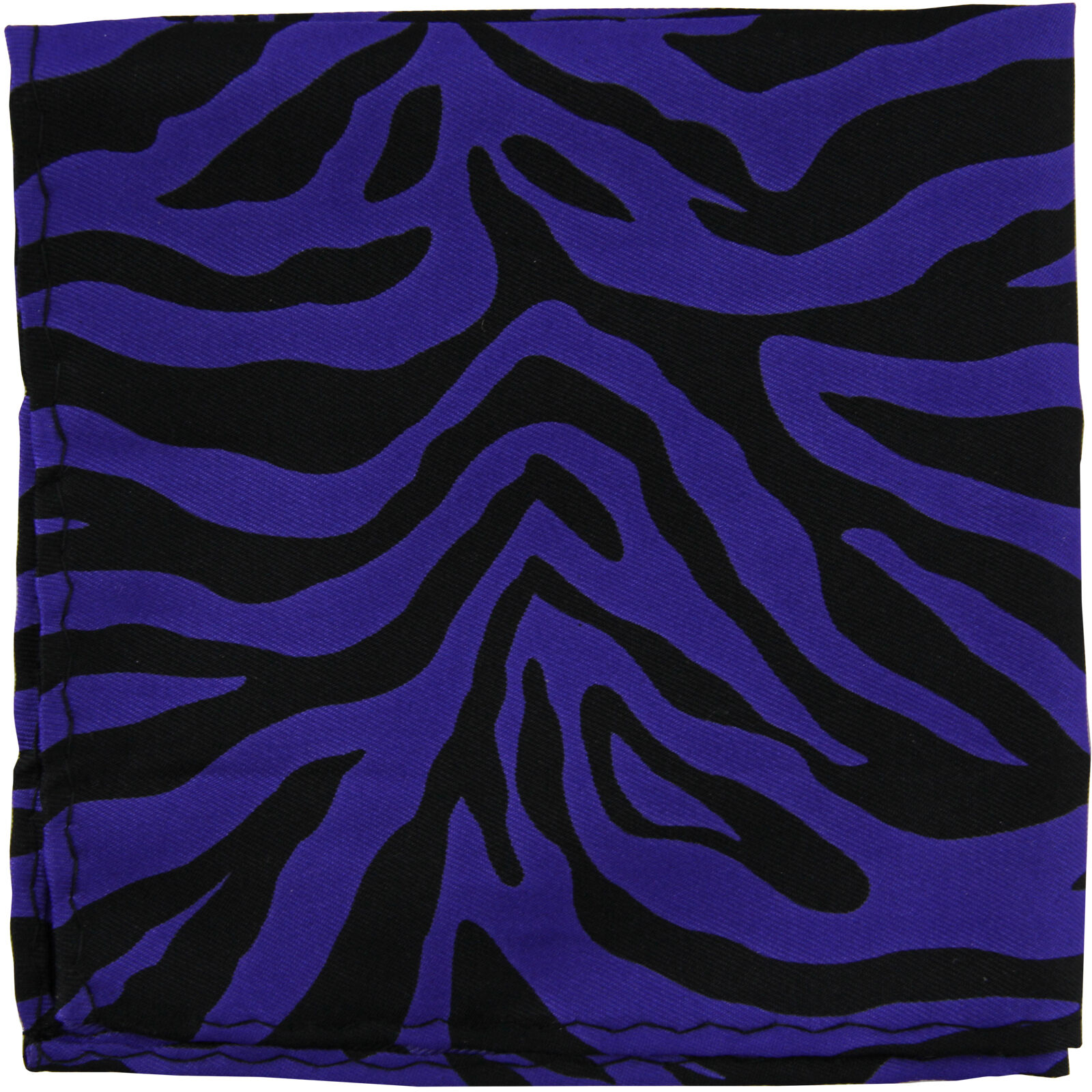New Men's Polyester Woven zebra pocket square hankie only purple formal party
