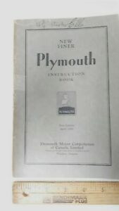 1930-31-PLYMOUTH-Original-Owner-039-s-Manual-Excellent-Condition-CDN