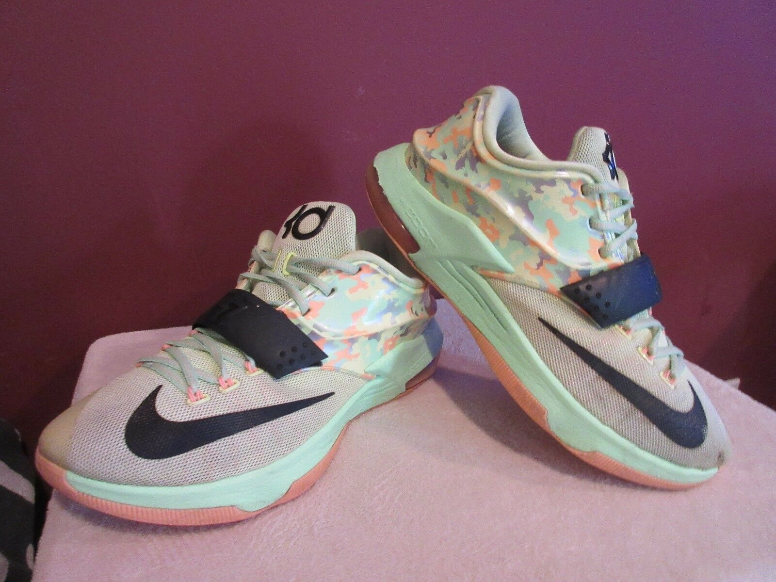 best sneakers 0a46b 26977 NIKE KEVIN DURANT DURANT DURANT Vll EASTER LIQUID LIME (65396 304) SNEAKERS  MEN S SIZE