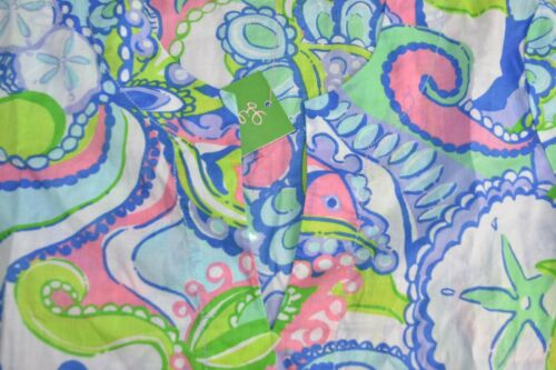 New Lilly Pulitzer Amelia Island Tunic Conch Republic Blouse Top Star FISH  S L