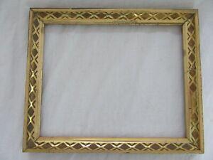 Antique-Fits-8-X-10-034-Lemon-Gold-Gilt-Picture-Frame-Stencil-Wood-Gesso-Fine-Art