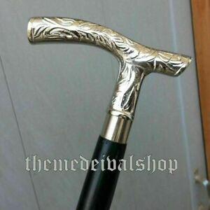 Vintage Style Brass Head Handle Derby Head Design Walking Stick Wooden cane Gift
