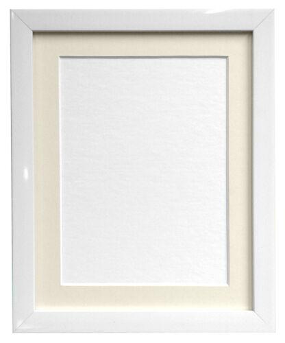 0.75 in approx. 1.90 cm Blanco Brillante Foto Marcos y Blanco Negro Marfil Rosa azul se monta
