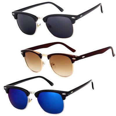 Fashion Vintage UV400 Outdoor Shades Women Mens Retro Round Mirrored Sunglasses
