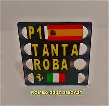 1:18 Pitboard F1 Formula 1 Fernando Alonso Ferrari Europa 2012 to hot wheels