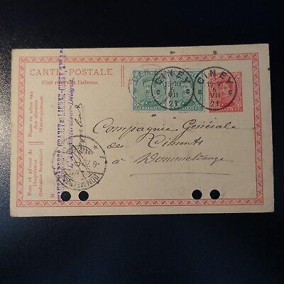 > Luxemburg Liberal Belgien Ganze Post Brief Cover Ciney 05.07.1921 Belgien