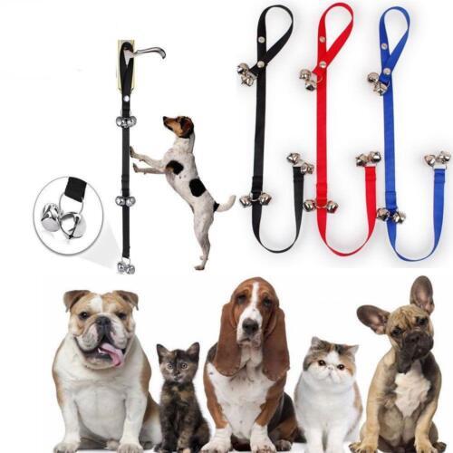 Premium Dog Doorbells Training Potty Dog Bells BLUE Adjustable FAST SHIP J37