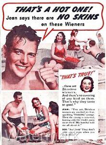 Funny Vintage Advert Set B 4 X Fridge Magnets A