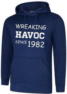 Mens Womens Hooded Sweatshirt Causing Havoc Birthday Gift Present All Years