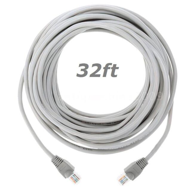 Grey 2m RJ45 Cat5e Ethernet Network LAN Patch Cable Lead