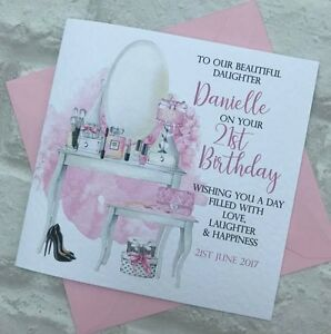 Image Is Loading Personalised Daughter Granddaughter Niece Birthday Card 13th 16th