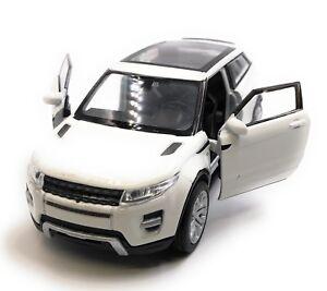 Modellino-Auto-Range-Rover-Evoque-SUV-Bianco-Auto-1-3-4-39-Licenza