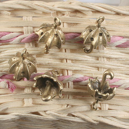 8pcs antiqued brass umbrella disign pendant G904
