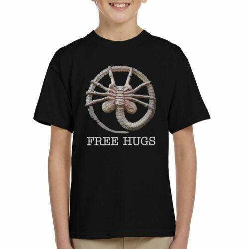 Alien Facehugger Free Hugs Kid/'s T-Shirt