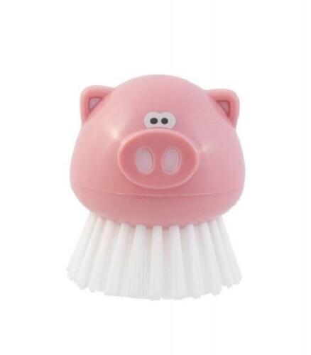 Joie Oink Oink Piggy Handheld Kitchen Scrub Brush BPA-Free