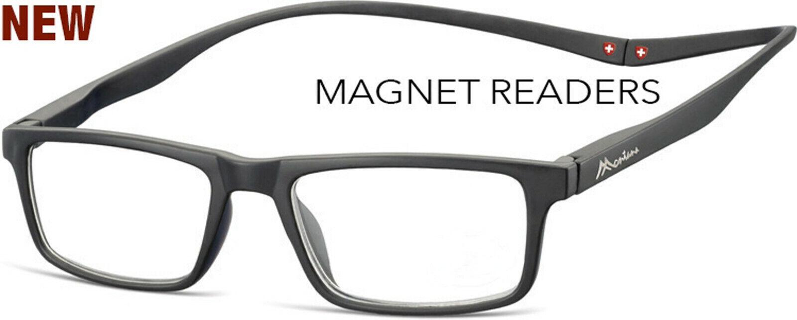 Lesebrille mit Magnet Lesehilfe in schwarz magnet reader 1,0 bis 3,5 Neu