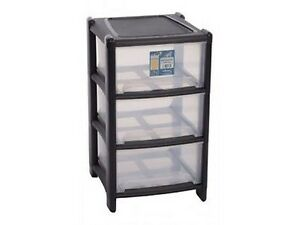 New-Plastic-3-Deep-Drawer-Storage-Unit-Cabinet-Paper-Cupboard-Tidy-Office-Home