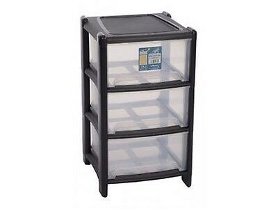 Plastic Deep Drawer 3 Tier Storage Unit,Cabinet Paper Cupboard Tidy Office,Home