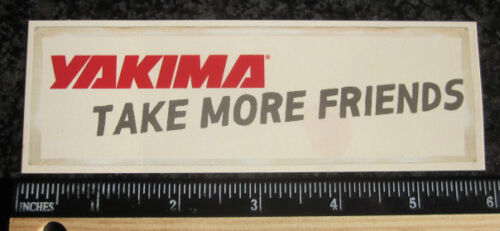 "FRIENDS 6/"" YAKIMA BIKE Mountain Road BMX Frame Car Truck Race STICKER DECAL"